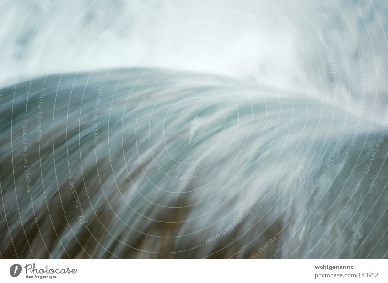 Running Water Colour photo Exterior shot Deserted Day Motion blur Bird's-eye view Landscape River Waterfall Movement Energy Moody Flow Brook Inject