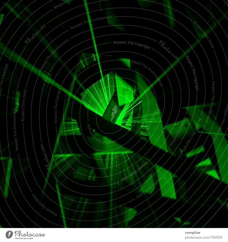 laser Colour photo Interior shot Experimental Abstract Copy Space top Copy Space bottom Reflection Light (Natural Phenomenon) Night life Event Disc jockey