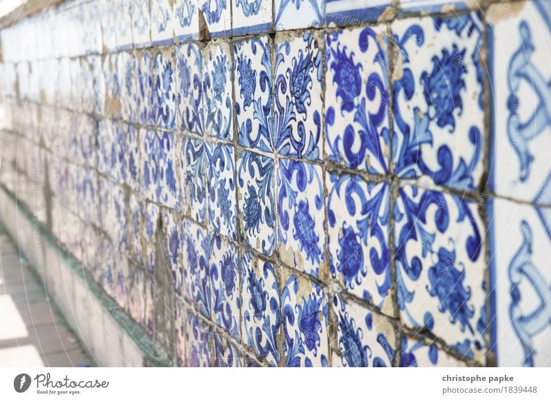 azulejos Vacation & Travel Trip Sightseeing City trip Summer Summer vacation Lisbon Portugal Town Capital city Downtown Wall (barrier) Wall (building) Facade