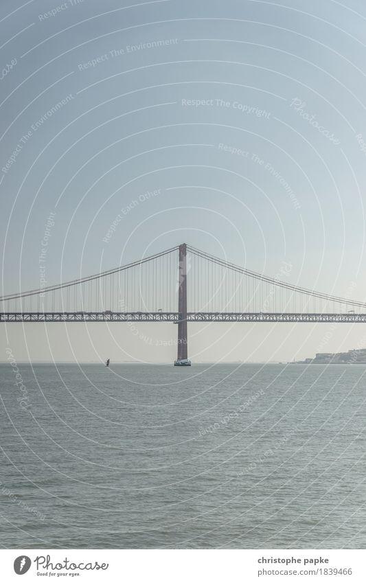 Town Water Transport Bridge River Tourist Attraction Landmark Connection Portugal Lisbon Tejo