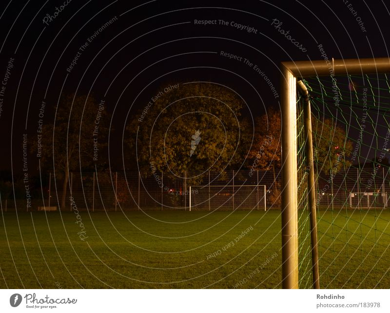 floodlight angle Colour photo Exterior shot Copy Space left Copy Space top Copy Space bottom Night Long exposure Central perspective Joy Leisure and hobbies