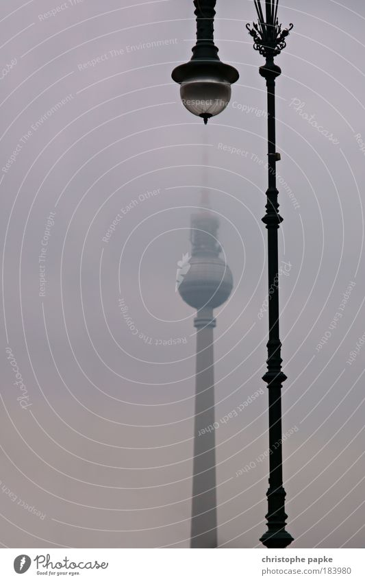 City Winter Lamp Cold Berlin Building Rain Architecture Fog Electricity Television Tower Skyline Manmade structures