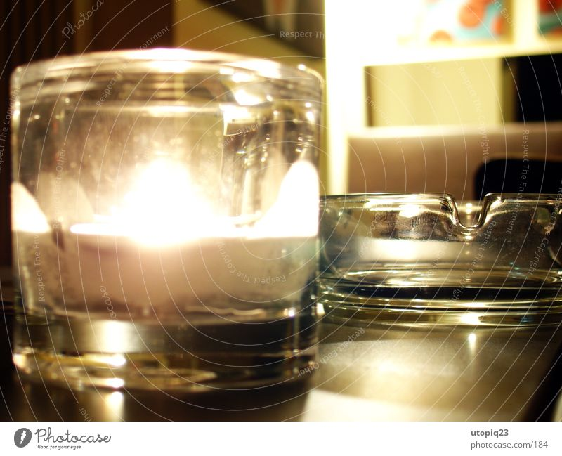 Black market coffee Ashtray Candle Table Gastronomy Wood Dark Tea warmer candle Late Living or residing Glass Roadhouse