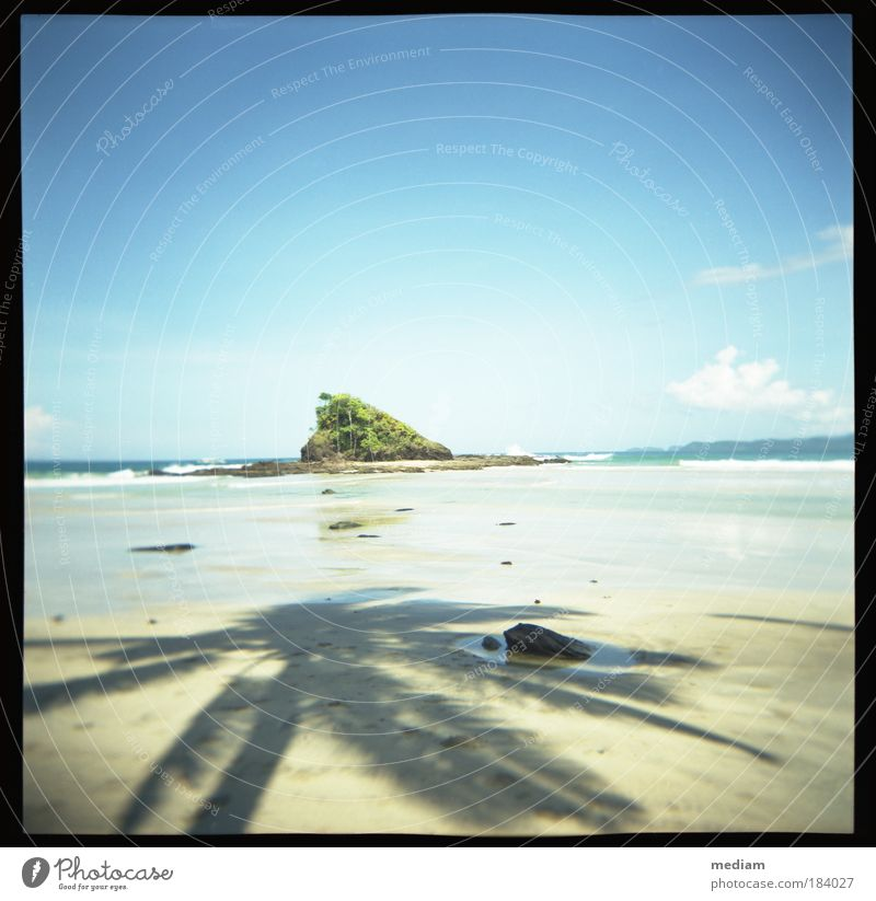 treasure island Vacation & Travel Freedom Summer Beach Ocean Island Waves Philippines South East Asia Nature Sand Sky Cloudless sky Horizon Sunlight Plant Coast
