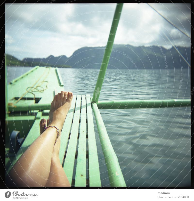 Human being Woman Nature Youth (Young adults) Vacation & Travel Water Summer Ocean Relaxation Young woman Adults Feminine Coast Freedom Legs Feet