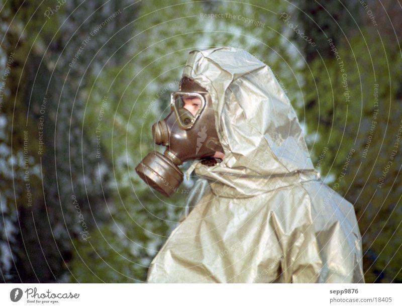 gas mask Respirator mask Alarm Human being Poison bad air
