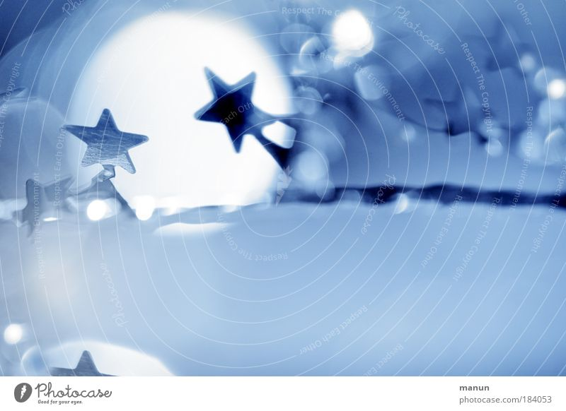 Christmas & Advent White Blue Winter Abstract Cold Bright Feasts & Celebrations Glittering Copy Space Illuminate Silver Joy Senses