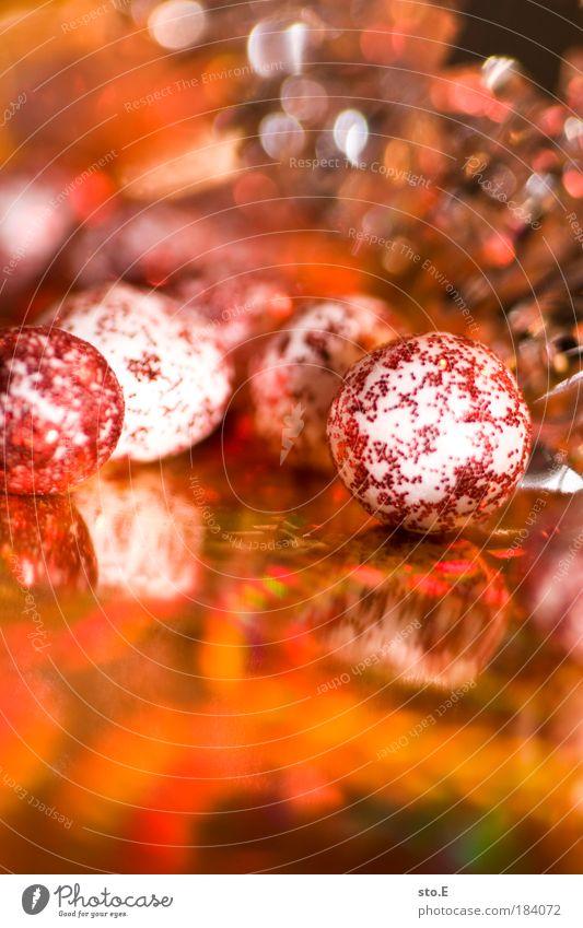 christmas decoration Colour photo Multicoloured Interior shot Close-up Detail Macro (Extreme close-up) Artificial light Flash photo Light Sign Sphere Joy