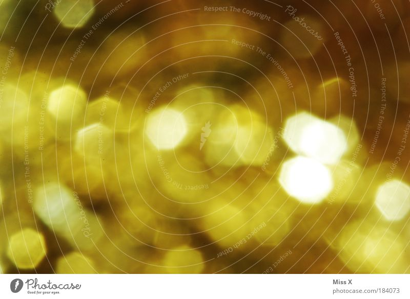 Beautiful Yellow Emotions Happy Glittering Gold Gold Creativity Point Feasts & Celebrations Multicoloured Light Play of colours Colour scheme