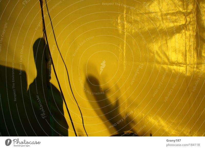 shadow play Multicoloured Interior shot Experimental Human being Masculine Head Dream