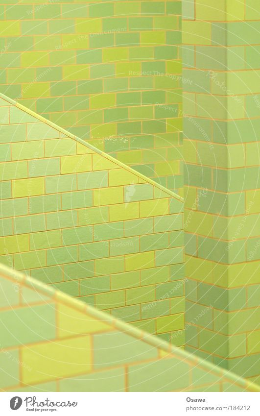 Green Wall (building) Stairs Tile Diagonal Column Pattern Grid Alexanderplatz Prop Subsoil Underpass Abstract