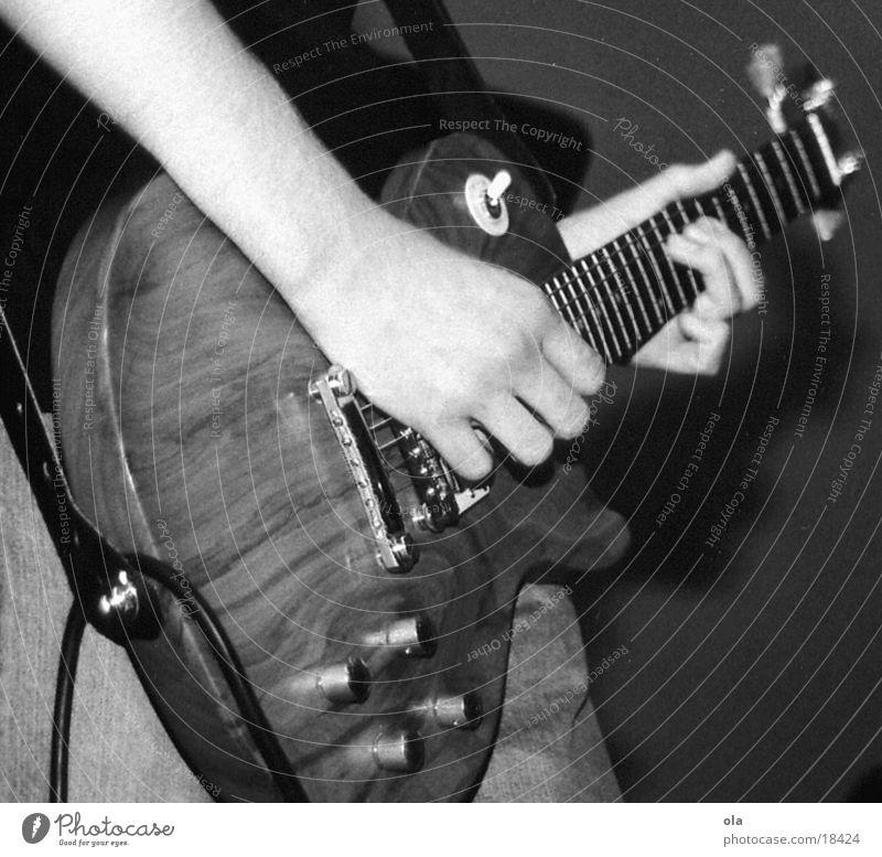 Man Hand White Black Music Wood Arm Concert Guitar Effortless