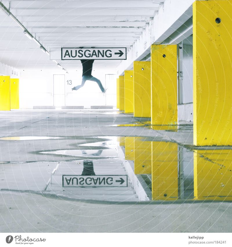 Man Water Adults Yellow Style Legs Walking Masculine Design Concrete Lifestyle Signage Planning Contrast Shadow Central perspective