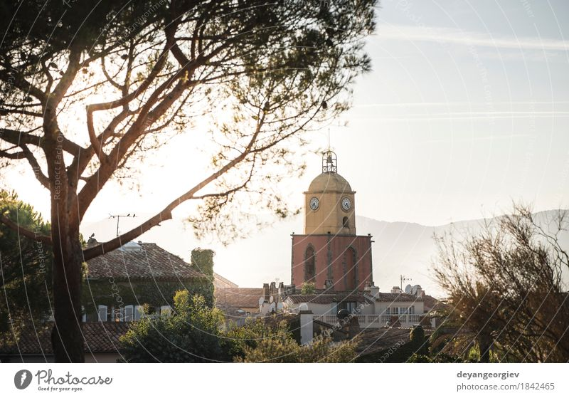 Saint-Tropez the clock tower Vacation & Travel Tourism Summer Ocean House (Residential Structure) Sky Coast Village Town Church Harbour Building Architecture