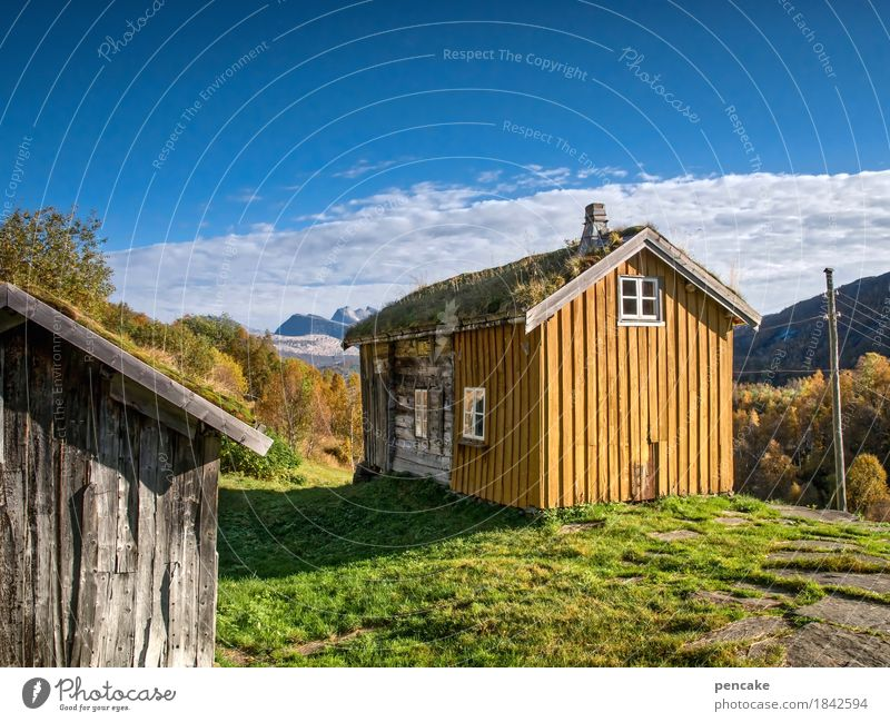 look into the country (2) Nature Landscape Elements Earth Sky Autumn Beautiful weather Mountain Relaxation Looking Hiking Free Friendliness Historic