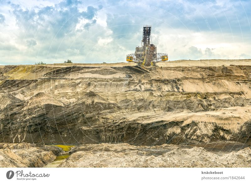 Landscape Environment Brown Sand Earth Energy industry Technology Transience Industry Change Past Decline Environmental protection Machinery