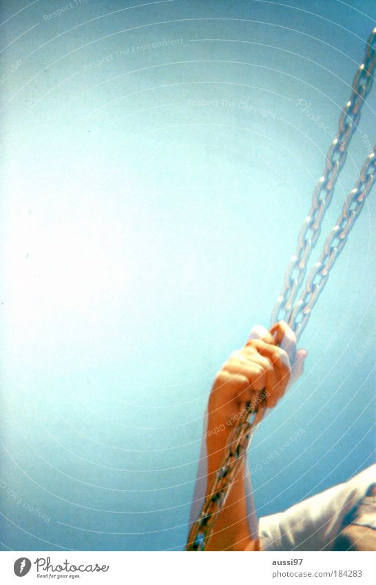expired, double-shot, crossed, scanned Hand Double exposure Analog Swing Chain Playground Risk of injury