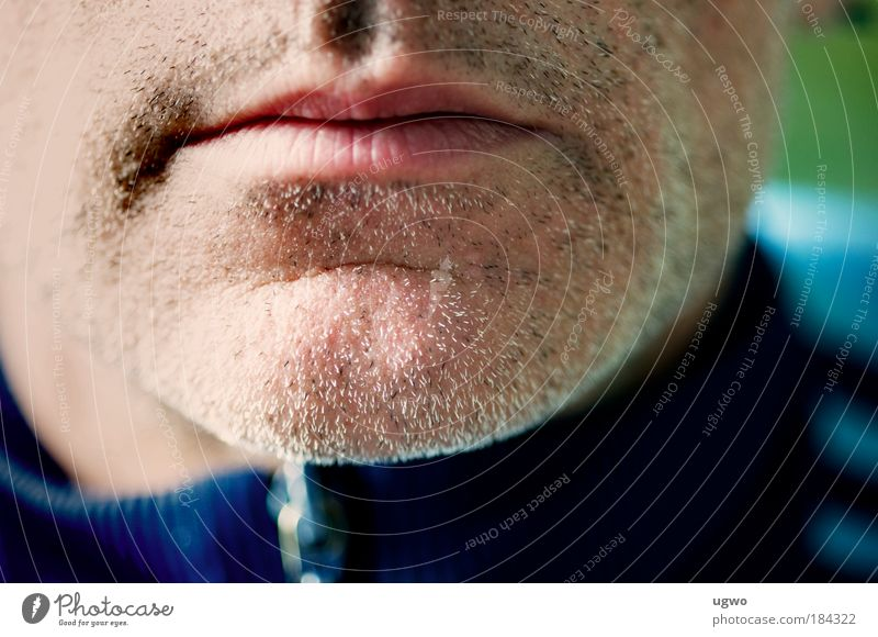 in the morning at 10:07 am Colour photo Exterior shot Close-up Copy Space middle Day Central perspective Human being Masculine Man Adults Mouth 45 - 60 years