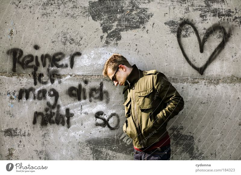 Human being Man Youth (Young adults) Loneliness Adults Love Graffiti Life Wall (building) Emotions Wall (barrier) Style 18 - 30 years Heart Concrete Characters