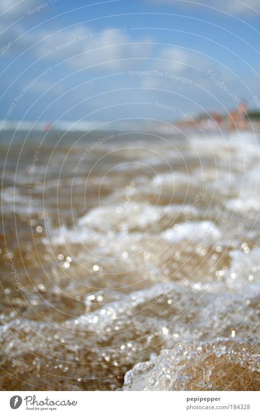 Blue Water Vacation & Travel Sun Ocean Summer Beach Yellow Coast Sand Waves Wind Wet Island Beautiful weather Fluid