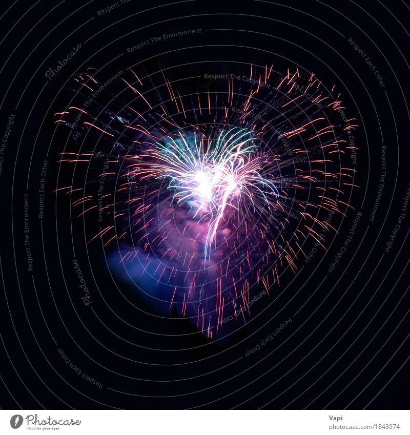 Heart fireworks Joy Night life Entertainment Party Event Feasts & Celebrations Valentine's Day Christmas & Advent New Year's Eve Wedding Art Sky Night sky Love