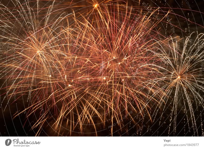 Red colorful holiday fireworks Sky Christmas & Advent Colour White Joy Dark Black Yellow Feasts & Celebrations Party Orange Pink Bright New Event