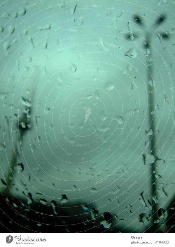 444 Rain Window pane Slice Car Window Glass Drops of water Berlin alex Alexanderplatz Berlin TV Tower Television tower Lantern Sky Clouds Raincloud Covered
