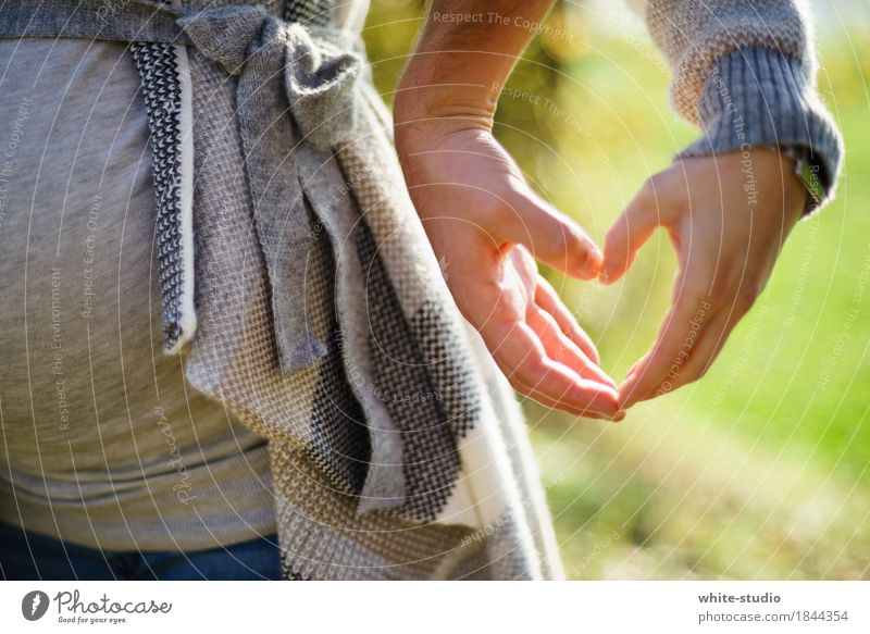 Heartily! Human being Masculine Feminine Love Hand Structures and shapes Heart-shaped Sincere Relationship Romance Loyalty Future Offspring Child Childhood wish