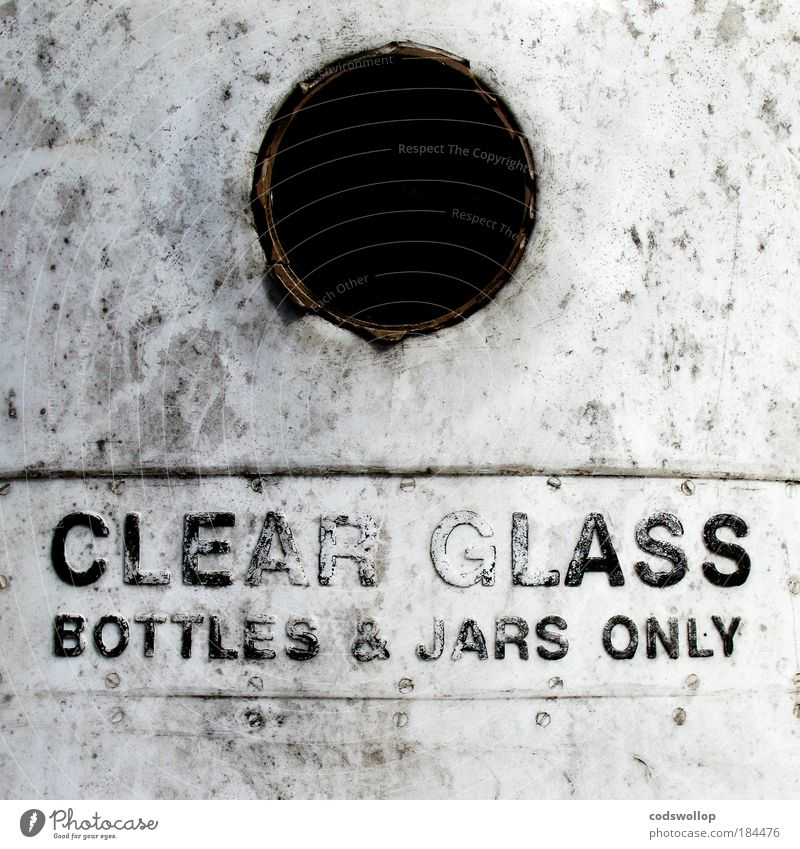 White Black Gray Glass Environment Lifestyle Characters Passion Plastic Signage Bottle Positive Environmental protection Container Recycling English
