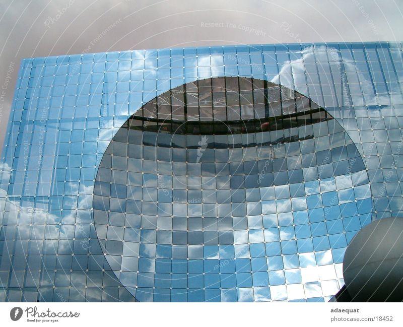 futuroscope Building Mirror Clouds Architecture glass reflection