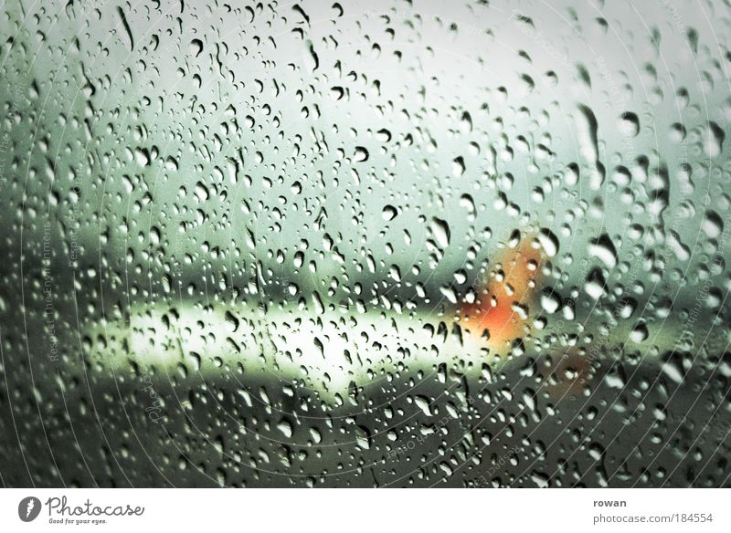 rainy goodbye Colour photo Interior shot Deserted Copy Space top Day Aviation Airplane Passenger plane Aircraft Airport Airfield Runway Gloomy Wet