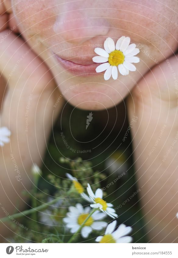 Woman Human being Beautiful Summer Flower Relaxation Meadow Face Nutrition Freedom Blossom Laughter Spring Detail Mouth Instant messaging