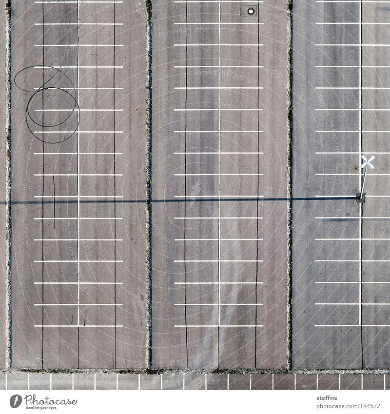 Street Aerial photograph Bird's-eye view Concrete Empty Arrangement Driving Asphalt Motoring Parking lot Copy Space Graphic Places Skid marks