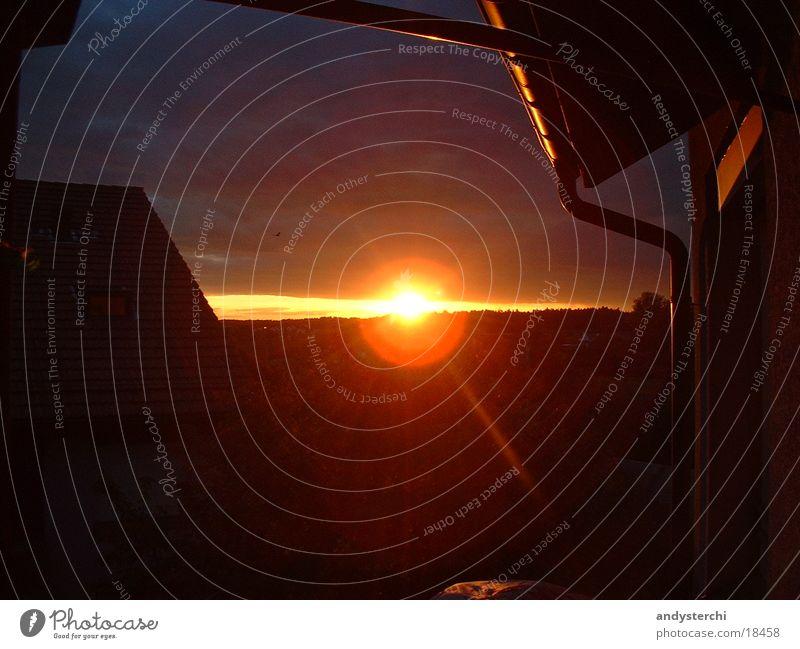 Sunset Twilight Horizon Roof House (Residential Structure) Evening Orange