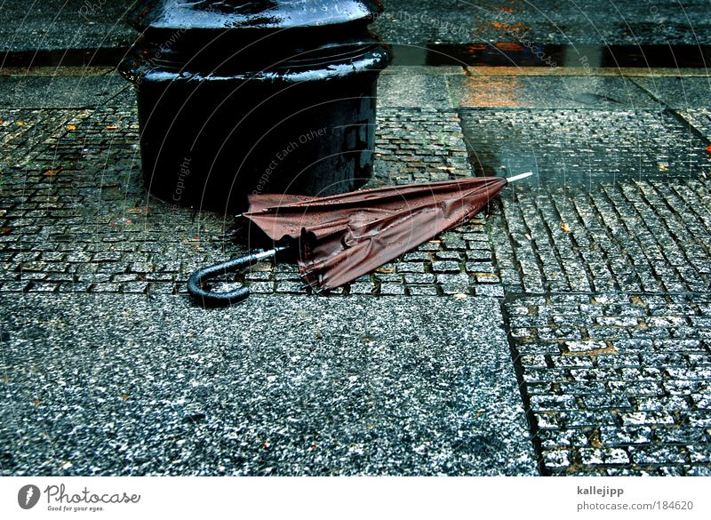 berlin - london 19,- Colour photo Subdued colour Exterior shot Day Twilight Lifestyle Work and employment Economy Bad weather Rain Town Accessory Umbrella Wet