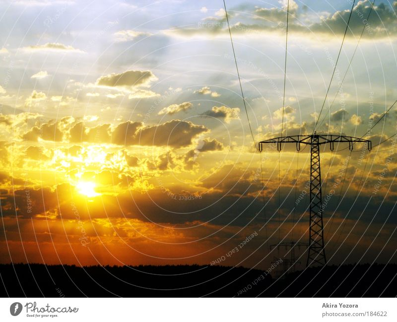 Sky White Sun Blue Red Black Clouds Yellow Relaxation Emotions Landscape Power Field Sunset Sunrise Horizon