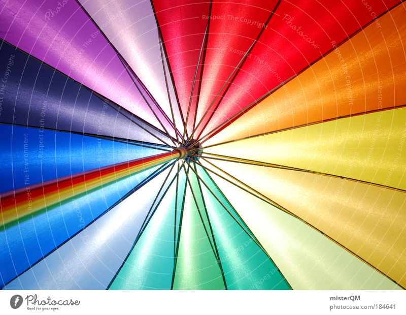 Pattern Abstract Colour Multicoloured Happy Fashion Contentment Macro (Extreme close-up) Design Modern Esthetic Happiness Crazy Kitsch Sign Umbrella