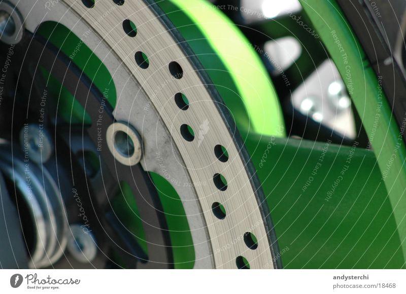 Green Bicycle Metal Transport Motorcycle Hollow Brakes Axle Wheel rim Brake disc Brake pad