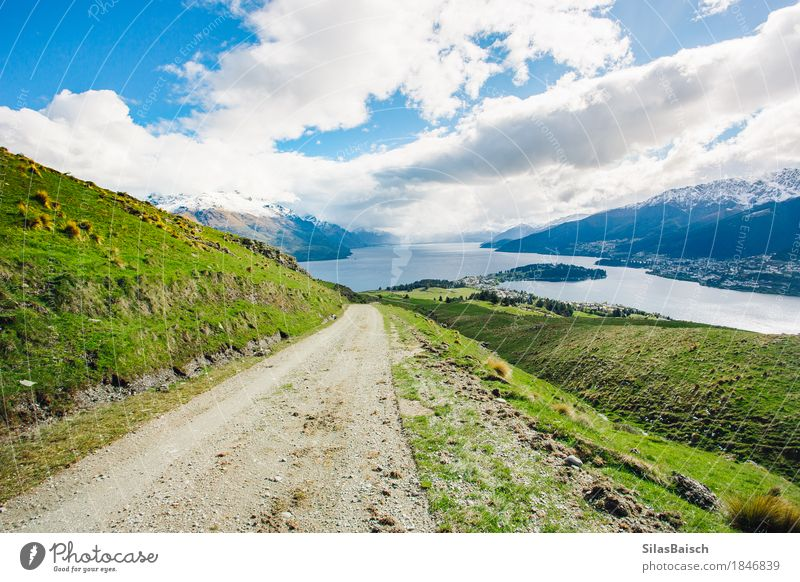 The Road Leads Home Nature Vacation & Travel Landscape Relaxation Clouds Joy Far-off places Mountain Life Lifestyle Emotions Freedom Trip Hiking Field Waves
