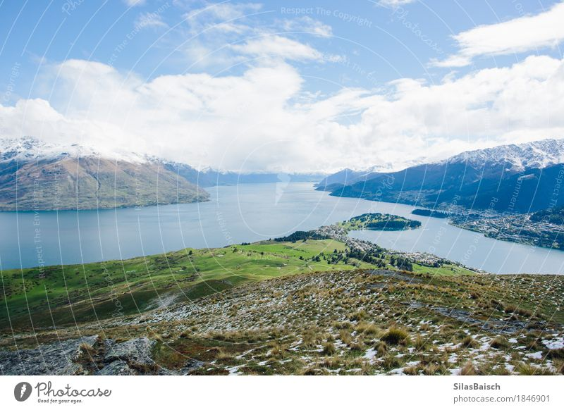 Lake Wakatipu Lifestyle Vacation & Travel Tourism Trip Adventure Far-off places Freedom Expedition Mountain Hiking Environment Nature Landscape Plant Hill Rock