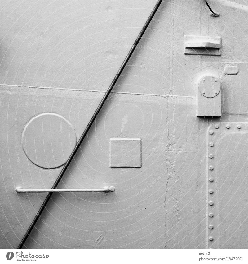 sign language Bracket Things Rod Navigation Ship's side Door handle Rivet Metal Sharp-edged Simple Maritime Round White Precision Puzzle Few Minimalistic Sign