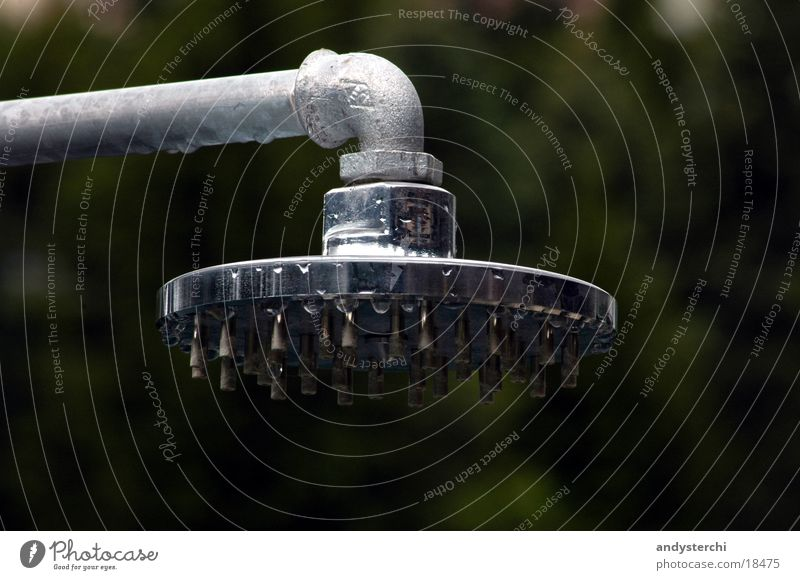 shower head Outdoor festival Open-air swimming pool Steel Glittering Things Shower (Installation) Shower head raw Metal refection Beach shower