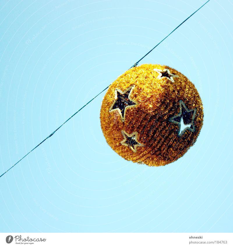 Christmas & Advent Sky Sun Blue Air Stars Gold Christmas decoration Disco ball Christmas star Christmas Fair Markets