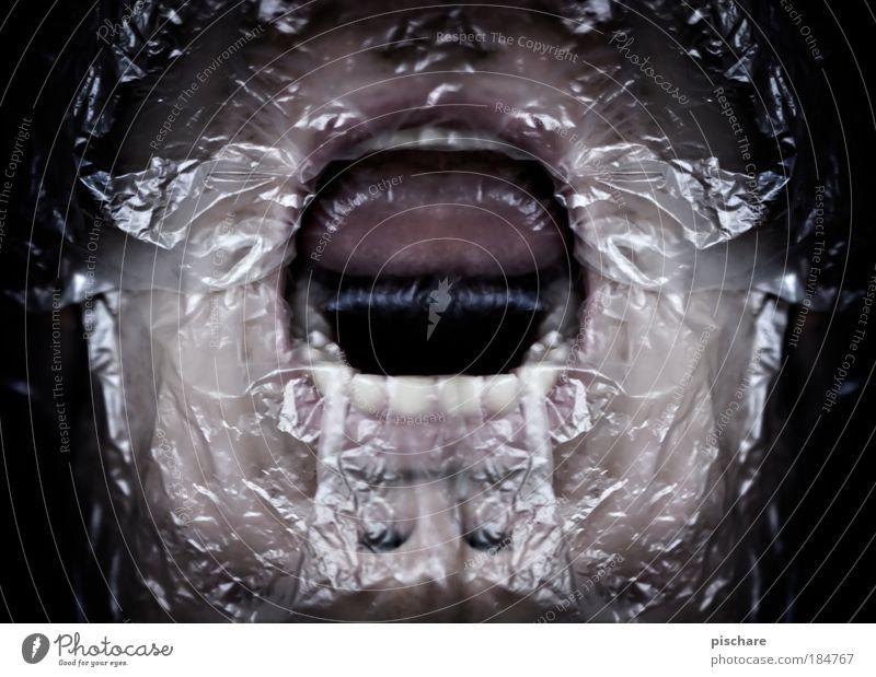 Face Dark Cold Emotions Mouth Fear Masculine Crazy Teeth Light Threat Scream Creepy Breathe Bizarre Fear of death