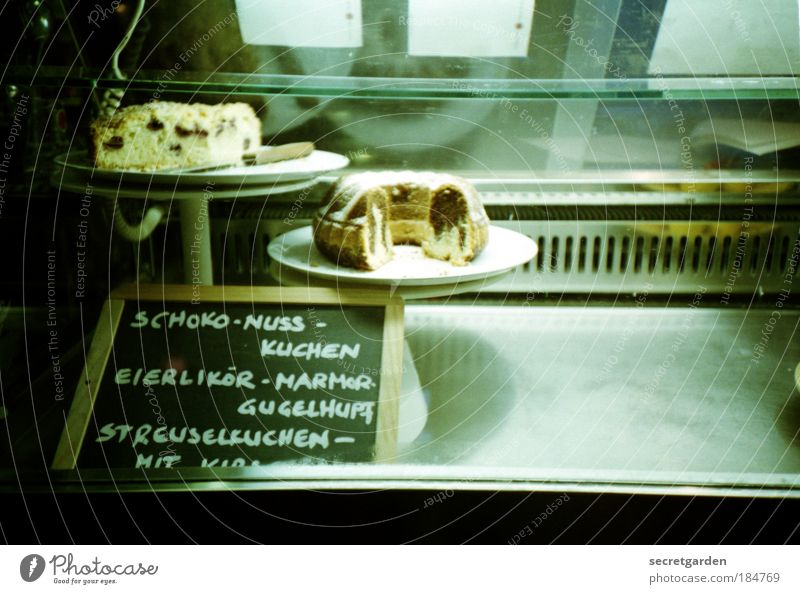 the agony of choice. Colour photo Subdued colour Interior shot Close-up Lomography Deserted Copy Space right Copy Space bottom Artificial light Food Dough