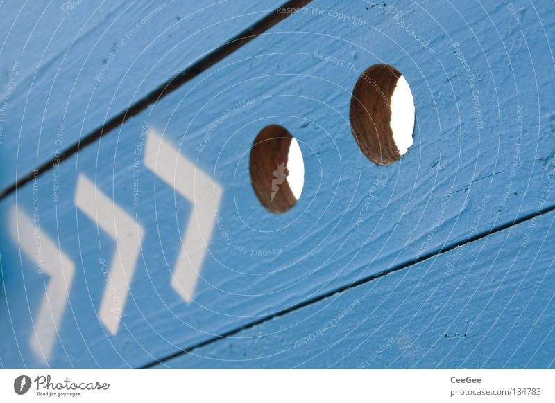 Blue White Wall (building) Wood Gray Lanes & trails Wall (barrier) Line Facade Modern Perspective Characters Infinity Sign Arrow Looking