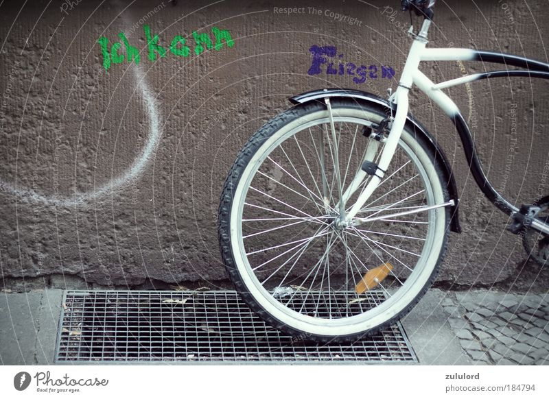 City Vacation & Travel Graffiti Art Bicycle Facade Flying Lifestyle Driving Symbols and metaphors Culture Infinity Sailing Wheel Tire Self-confident