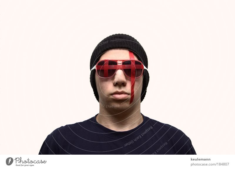 Human being Youth (Young adults) Adults Masculine Elegant Large Crazy Portrait photograph New Threat Scream Exceptional Force Cap Crucifix Perspective