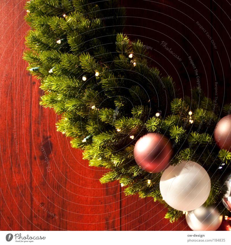 Christmas & Advent Green Winter Emotions Wood Feasts & Celebrations Moody Decoration Curiosity Wreath Belief Fragrance Christmas tree Wooden board Sphere Fir tree