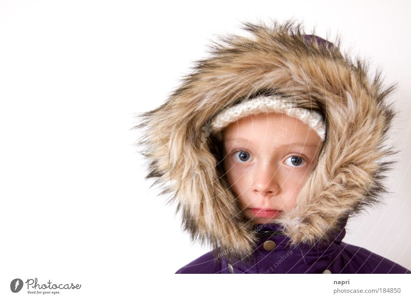 Human being Child Girl Winter Head Infancy Portrait photograph Looking 8 - 13 years